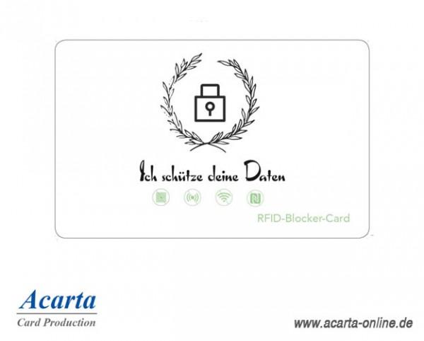 RFID-Störsenderkarte Motiv 06 Ich schütze deine Daten