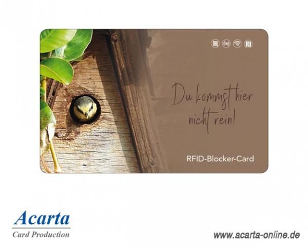 RFID-Abschirmkarte Motiv 24 Du kommst hier nicht rein!