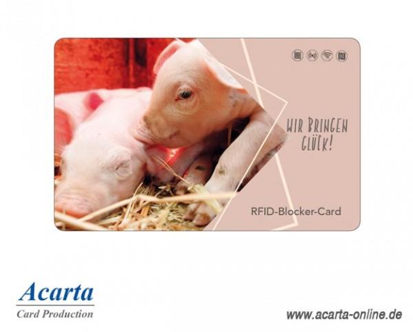 RFID-Störsenderkarte Motiv 19 Wir bringen Glück