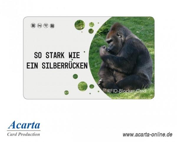 RFID-Abschirmkarte Motiv 20 Stark wie ein Silberrücken