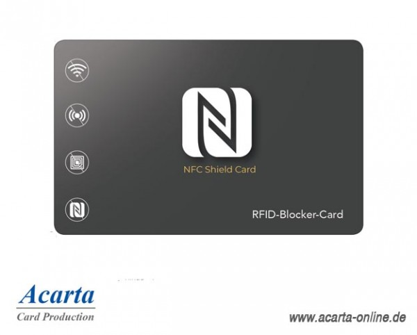 "RFID-Blocker-Card Abschirmkarte Motiv 13 ""NFC SHIELD CARD Eleganz"""