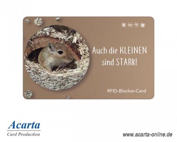 RFID-Abschirmkarte Motiv 23 Auch die KLEINEN sind STARK!