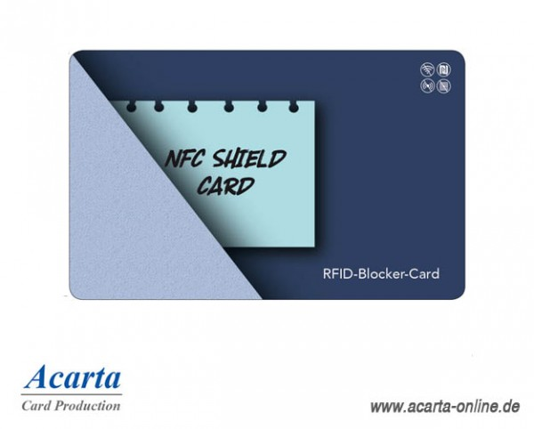 RFID-Störsenderkarte Motiv 11 NFC SHIELD CARD Notiz