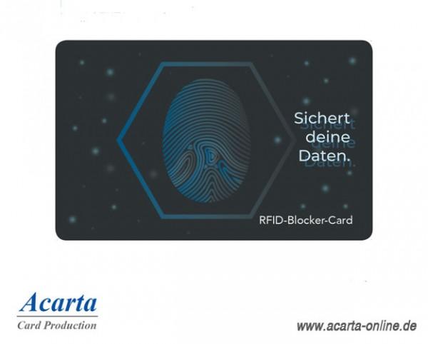 RFID-Störsenderkarte Motiv 02 Sichert deine Daten