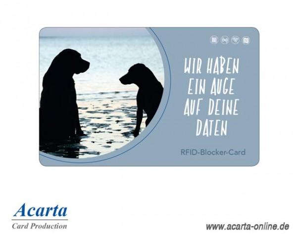 RFID-Störsenderkarte Motiv 18 Wir haben ein Auge auf Deine Daten