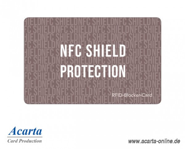 "RFID-Blocker-Card Abschirmkarte Motiv 10 ""NFC SHIELD PROTECTION"""