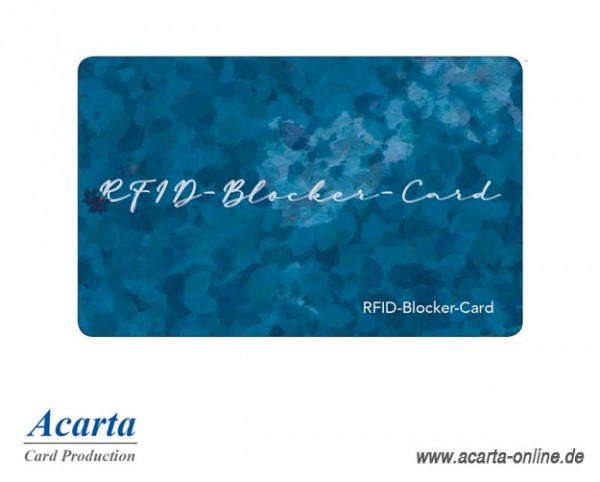 RFID-Störsenderkarte Motiv 16 blue leaves